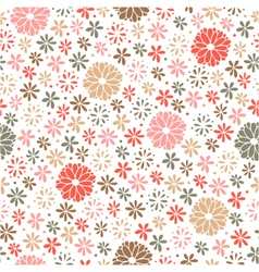 Seamless floral pattern endless background vector