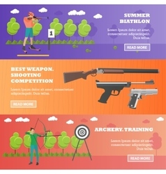 set of sport shooting weapons banners vector image vector image