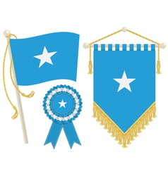 somalia flags vector image vector image