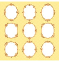 Vignette frames vector