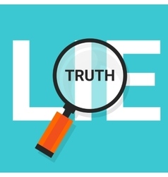 Truth lie symbol text magnify magnifying find true vector