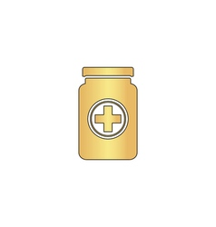 Medicine bottle computer symbol vector