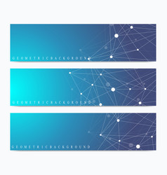 Modern set of banners geometric abstract vector