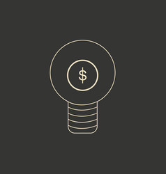 flat in black and white light money vector image