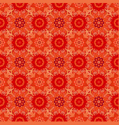 oriental red pattern of mandalas rich vector image