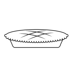 Thanksgiving pie isolated icon vector