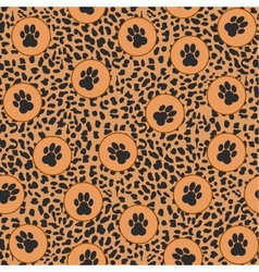 Leopard background with paws vector