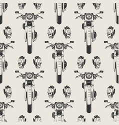 motorcycles and moto seamless pattern vector image