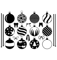 Set of different Christmas decorations vector image