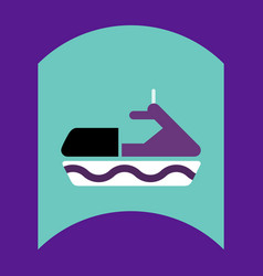 Flat icon design collection water bike vector