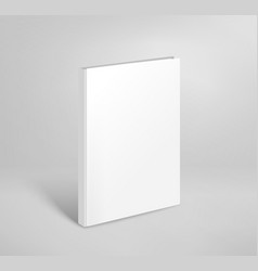 3d blank thin book mockup paper book template vector