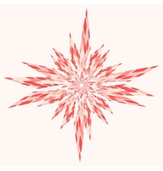 Snowflake Abstract Pink vector image