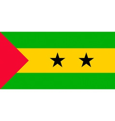Sao tome and principe flag vector