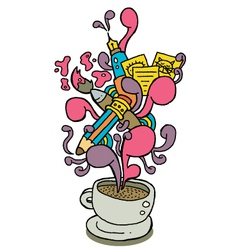 Coffee cup series creativity vector