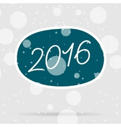 Happy new year 2016 text with snow vector