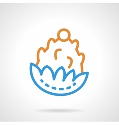 Pine cone color simple line icon vector