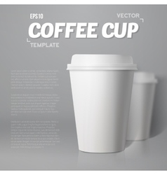 Coffee cup set with blur depth of field vector