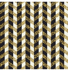 Seamless chevron pattern glittering golden surface vector