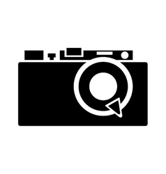 Retro camera isolated icon design vector