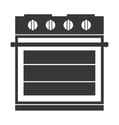 Electric stove isolated icon design vector