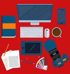 A workplace designer vector