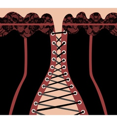 background in the shape of the corset vector image