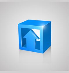 Box with arrow blue vector