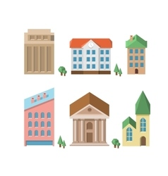Buildings 3d houses vector