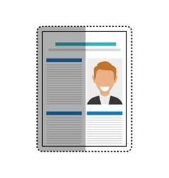 Business curriculum vitae vector image vector image