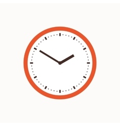 Colorful clock icon vector image