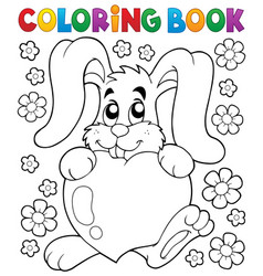 Coloring book valentine topic 2 vector