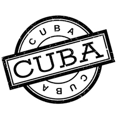Cuba rubber stamp vector image
