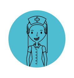 Cute nurse avatar character vector