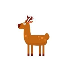 Deer Simplified Cute vector image vector image