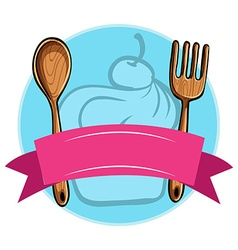 Fork and spoon vector image vector image