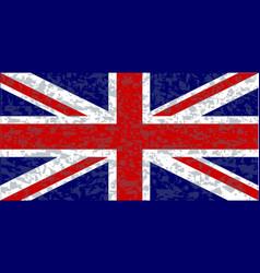 grunge union jack flag vector image vector image