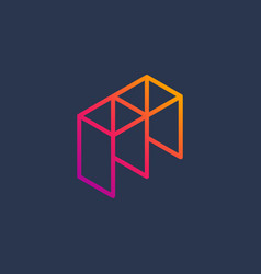 Letter m construction logo icon design template vector