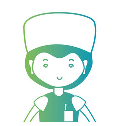 line man doctor with uniform and hairstyle design vector image
