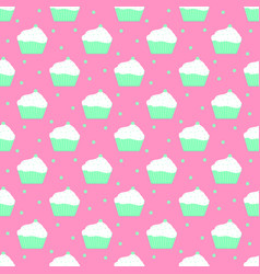 mint cakes pattern vector image vector image