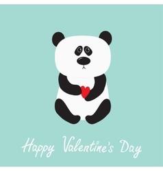 Panda baby bear Cute cartoon character holding vector image vector image
