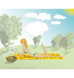 Park life woman vector image vector image