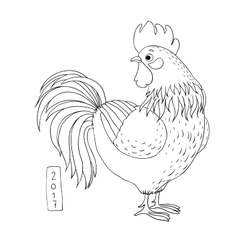 Rooster Cartoon cock vector image vector image
