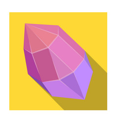 Rough gemstone icon in flat style isolated on vector