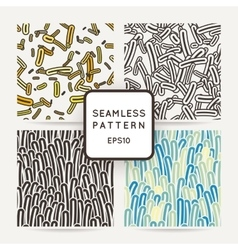 Set of four seamless patterns of amoebae vector image vector image