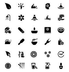 Spa icons 1 vector