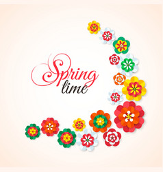 Spring Time Spring multicolored cutout paper vector image vector image