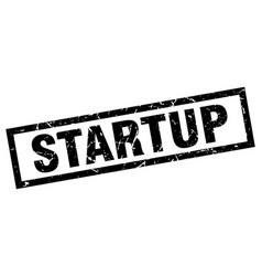 Square grunge black startup stamp vector