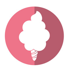 Sweet cotton candy shadow vector