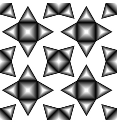 The pattern of black and white tetragonal stars vector image vector image