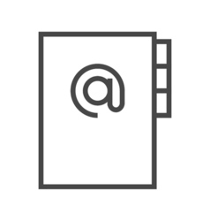 Address book line icon vector